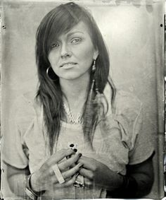 This is an AMAZING image of Kandee Johnson. I was going to look for someone else and this popped into my view. I LOVE it! It reminds me of Margaret Bourke Whyte's work. http://1.bp.blogspot.com/_Av87dNhd4Kw/TDyvQiDslPI/AAAAAAAABKc/Y7S3wOBw5EQ/s640/kandee+johnson+wet+plate+collodion.png