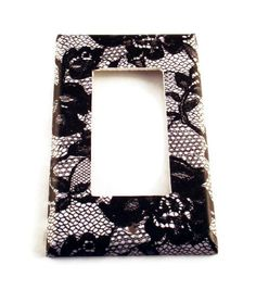 Light Switch Cover Wall Decor Rocker Switchplate Switch Plate in  Midnight Lace (197R)