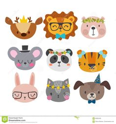Find Cute Animals Funny Accessories Cat Lion stock images in HD and millions of other royalty-free stock photos, illustrations and vectors in the Shutterstock collection. Cute Animals With Funny Captions, Cute Animals Puppies, Cute Baby Animals, Cartoon Smile, Baby Cartoon, Cute Animal Videos, Cute Animal Pictures, Cute Animal Drawings, Cute Drawings