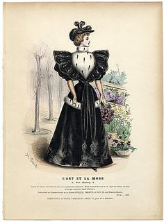 L'Art et la Mode 1893 N°40 Complete with colored engraving by Jules Hanriot, Louise Abbema