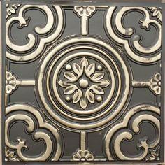 PL50 Faux tin classic aged brass 3D ceiling tiles decor wall panels10tiles/lot