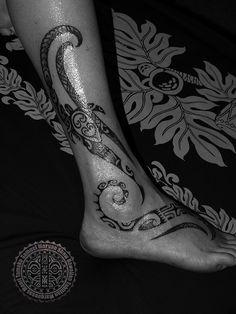 Womens' Polynesian Tattoos | The Tattoo Work of Samuel Morgan Shaw