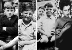 Growing Up: Liverpool - The future Beatles as Liverpool kids — from left, Ringo Starr, John Lennon, Paul McCartney (with older brother Mike) and George Harrison. All are born between 1940 and 1943 and grow up in the gritty English town. Among the local spots name-checked in Beatles songs are Strawberry Field (the orphanage) and Penny Lane, where a young John and Paul would meet to catch a bus downtown.