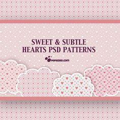 Free Hearts PSD Patterns