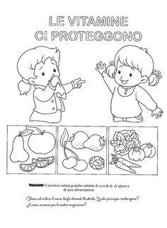 La maestra Linda : Alimentazione: Perchè mangiamo un po' di tutto April Preschool, Food Crafts, Health Education, Coloring Books, Kindergarten, Homeschool, Dads, Snoopy, Science