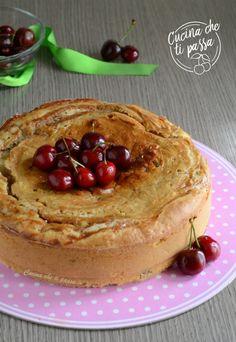 Torta alle ciliegie e crema