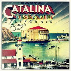 Catalina Island print California 12x12 20x20 photograph vintage beach house travel art