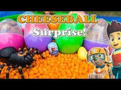 SURPRISE EGGS Disney Paw Patrol + Peppa Pig + Blaze World Largest Cheeseball Surprise Egg Video - YouTube
