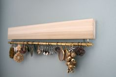 natural wood earring display / organizer by fairlywell on Etsy