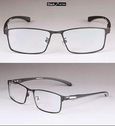 Men Titanium Alloy Eyeglasses Frame For Men Eyewear Flexible Temples Legs Ip Electroplating Alloy Material Full Rim And Half Rim Mens Glasses Frames, Eyeglass Frames For Men, Eye Glasses, Prescription Lenses, Wire Wrapped Jewelry, Eyewear, Black And Grey, Temples, Sunglasses