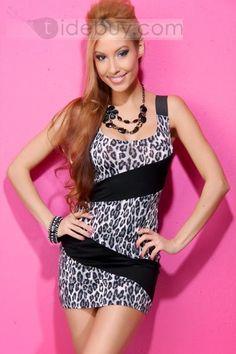 67ead6dbc3e Sexy Leopard Print Mini Skirt Clubwear Dresses 2013