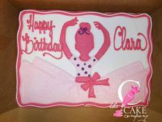 Ballerina cake Ballet Cakes, Ballerina Cakes, Ballerina Birthday, 3rd Birthday Parties, Birthday Fun, Birthday Celebration, Birthday Sheet Cakes, Baby Shower Themes, Bakery Cakes