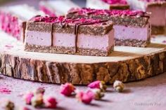 #raw, #vegan Charming Pink Raspberry Slices from Deviliciously Raw
