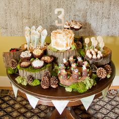 WOODLAND wood grain background Woodland Birthday Treats Table WOODLAND Holzmaserung Hintergrund Woodland Birthday Treats Table The post WOODLAND Holzmaserung Hintergrund Woodland Birthday Treats Table & birthday appeared first on Forest party theme . Baby Shower Cakes For Boys, Baby Shower Parties, Baby Shower Themes, Baby Boy Shower, Shower Ideas, Kinder Party Snacks, Rustic Birthday, Forest Party, Forest Theme