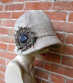tweed flower. Hat love!
