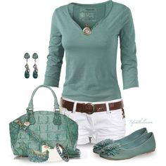 http://fashionistatrends.com/summer-outfits-teal-white/