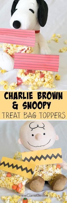 Free Party Printables: Charlie Brown and Snoopy Printable Bag Toppers (sponsored by Albertsons Safeway) #peanutsmovie