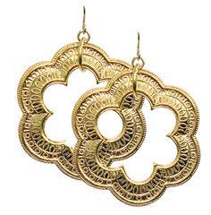 SHARJAH EARRINGS GOLD $48- CALL SPLASH TO ORDER 314-721-6442