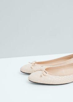 Bow ballerinas | MANGO