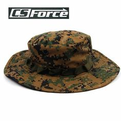 01e0b590 Cs Force Camo Cover Military Wide Brim Camo Cap Men Sport Hunting Fishing
