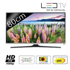 """SAMSUNG 32J5100 TV LED Full HD 80cm (32"""") - Résolution 1920x1080 - HyperReal Engine - Index de la Qualité d'Image (PQI) 200 - Mode Naturel / Cinéma / Jeux - Tuner TNT/Câble (DVB-T/C) - Port CI+(1.3) ..."""
