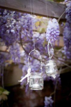 Hanging Glass T Light Holder
