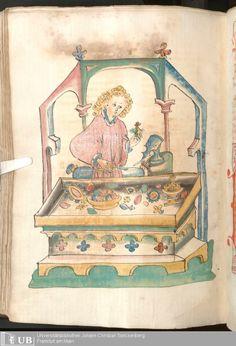 598 [297v] - Ms. Carm. 1 (Ausst. 47) - Das Buch der Natur - Page - Mittelalterliche Handschriften - Digitale Sammlungen  Hagenau, [um 1440]
