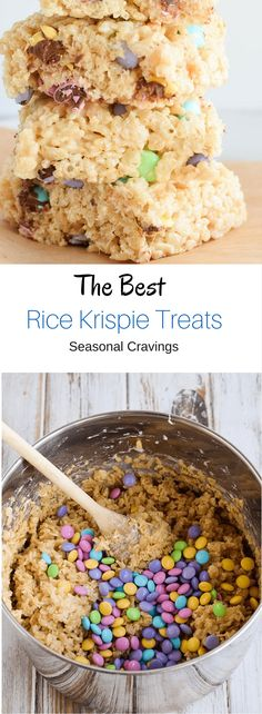 The Best Rice Krispie Treats - all the essential tips to make the best Rice Kris. - Baby Tips - Rice Krispie Treats Crispy Treats Recipe, Rice Crispy Treats, Krispie Treats, Rice Recipes For Dinner, Dessert Recipes, Desserts, Dessert Bars, Easy Pumpkin Carving, Carving Pumpkins