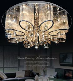 Modern Luxury Living Room Ceiling Lamp Fixture Crystal Chandelier Lighting #Modern