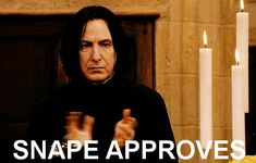Find the best harry potter, alan rickman, snape, clapping animated GIFs on PopKey Harry Potter Gif, Harry Potter World, Rogue Harry Potter, Studio Harry Potter, Harry Potter Tumblr Posts, Harry Potter Studios, Harry Potter Characters, Severus Snape, Snape Harry
