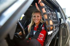 Leah Pritchett Pilots the Papa Johns Pizza T/F Dragster with DSR Team at the US Nationals