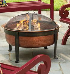Exceptionnel Gather Around Our Hand Hammered, Pure Copper Firepit For A Fireside Chat.