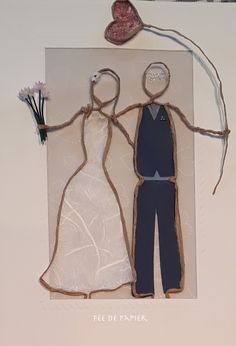 Sculptures Sur Fil, Wire Ornaments, Wedding Crafts, Wire Crafts, Wire Art, Photo Displays, Love And Marriage, Twine, Diorama