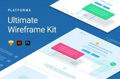Platforma Wireframe Kit by Great Simple on @creativemarket