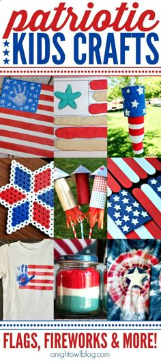 Patriotic Kids Crafts - Flags, Fireworks and More!
