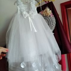 I have delivered this beauty today, and must say that I'm so proud and happy at the same time, it is very beautiful dress and I can't wait to see the little girl in it. Girls Maxi Dresses, Little Girl Dresses, Dress Outfits, Flower Girl Dresses, Wedding Dresses, Boho Flower Girl, Bohemian Baby, Flower Girls, Country Beach Weddings