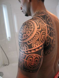 Shoulder Maori Tattoo Designs - pictures, photos, images