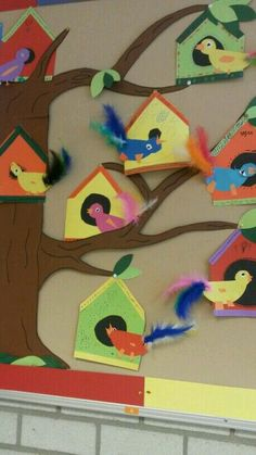 Vogelhuisje platte vlak