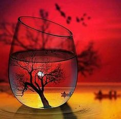 -Sunset in a glass (so pretty!)