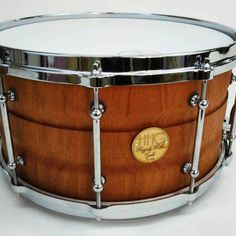 14x7 contoured mahogany stave snare drum by HHG drums