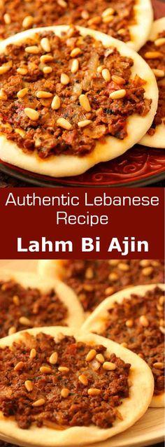 Lahm Bi Ajin (Sfiha) - Authentic Lebanese Recipe | 196 flavors