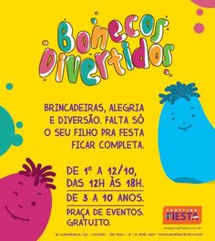 Bonecos divertidos no Shopping Fiesta | Jornalwebdigital