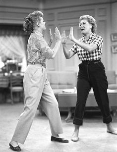 I Love Lucy Show, Lucy and Ethel - played by Lucille Ball and Vivian Vance I Love Lucy, My Love, Lucy Lucy, Lucille Ball, Classic Hollywood, Old Hollywood, Vivian Vance, Desi Arnaz, The Lone Ranger