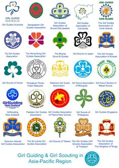 Asia Pacific Region poster - Girl Guides Australia would make a great puzzle overlay...mod podge it on!