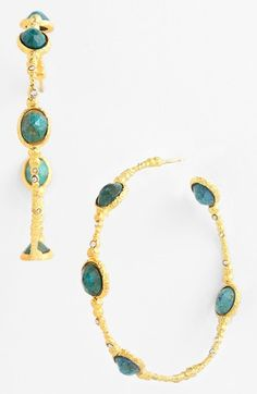 Alexis Bittar 'Elements - Cordova' Station Hoop Earrings available at #Nordstrom