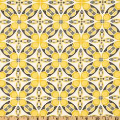 Silent Cinema Iris Yellow - Discount Designer Fabric - Fabric.com