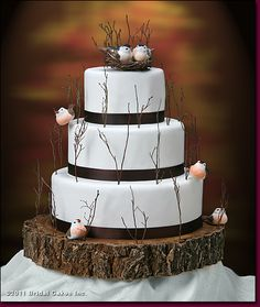 gallery wedding cakes love birds inspired by nature this cake is ...