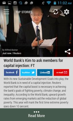 #worldbank #sustainability  Download the FREE Born2Invest Android app to get the full scoop and many more business news summaries.