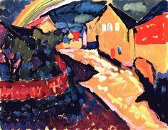 Murnau with rainbow by Wassily Kandinsky