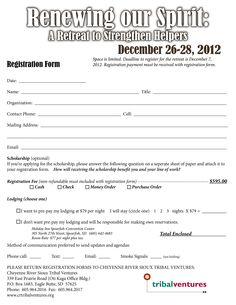 Registration Form For A Youth Retreat Google Search